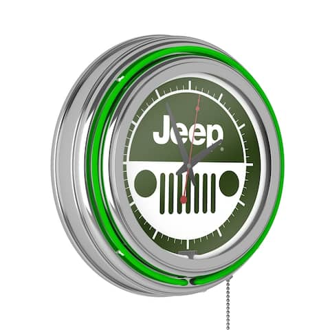Jeep Grille 2 Neon Analog Wall Clock