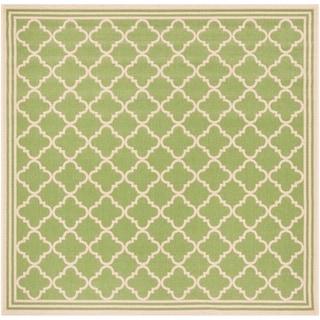 "Safavieh Linden  Modern & Contemporary Olive / Cream Rug - 6'7"" x 6'7"" Square"
