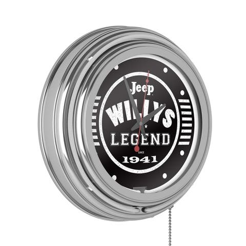 Jeep Willys Legend Neon Analog Wall Clock