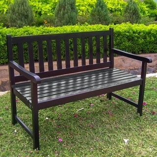 International Caravan Highland 4-Foot Indoor/Outdoor Bench