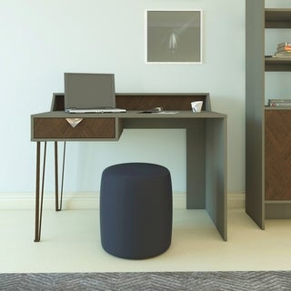 Decorotika Linea Modern Indusrial Computer Desk with a Drawer