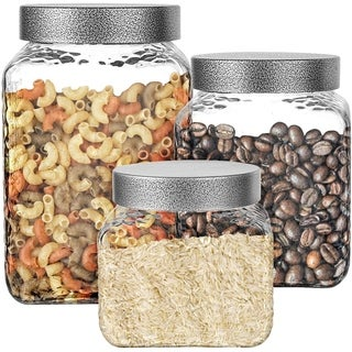Link to Stylesetter Hammered Square 3-Piece Canister Set Similar Items in Kitchen Storage