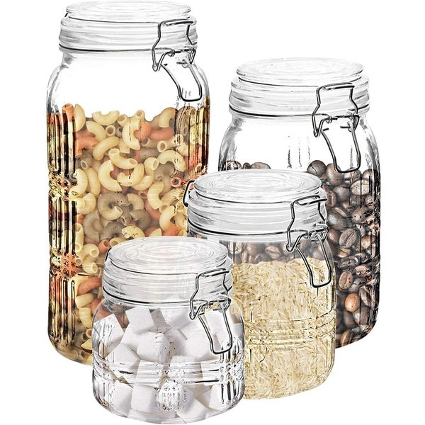 Stylesetter Portland Square 4-Piece Canister Set