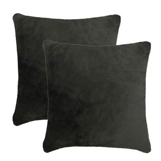 Olivia Quido Lux Luxury Faux Fur 24-inch Pillow 2-pack