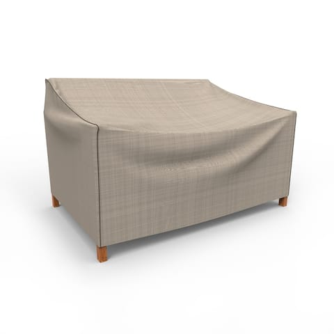Budge Waterproof Outdoor Patio Sofa Cover, NeverWet® Mojave, Black Ivory, Multiple Sizes