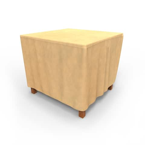 Budge Water-Resistant Outdoor Square Patio Table Cover, All-Seasons, Nutmeg, Multiple Sizes
