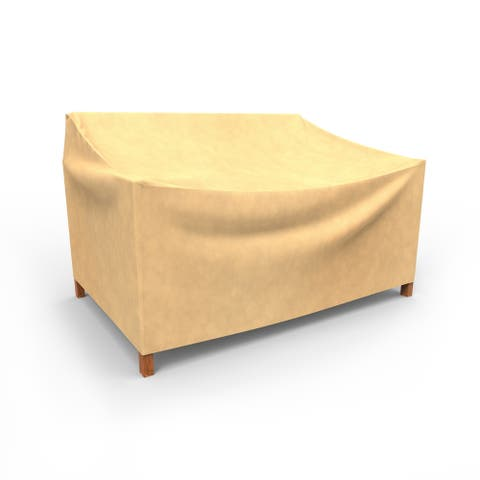 Budge Water-Resistant Outdoor Patio Sofa Cover, All-Seasons, Nutmeg, Multiple Sizes