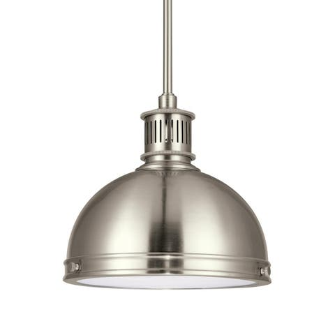 Carbon Loft Safil Street Metal 1-light Clear Textured Glass Pendant