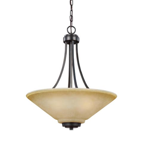 Sea Gull Parkfield Flemish Bronze 3-light Pendant