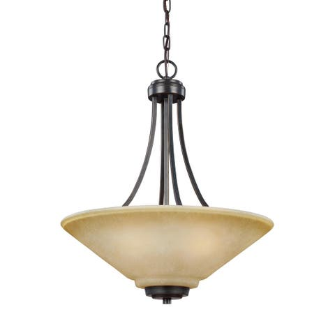 Sea Gull Parkfield 3-light Steel Pendant