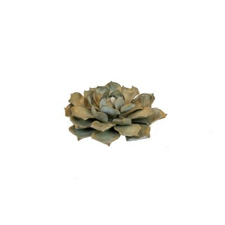 Blue Rose Succulent Steel Garden Accent