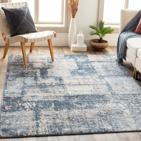 Addams Abstract Patchwork Area Rug