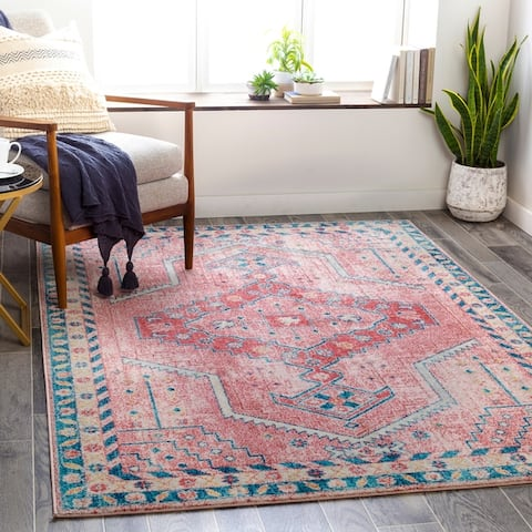Bruce Faded Tribal Medallion Area Rug