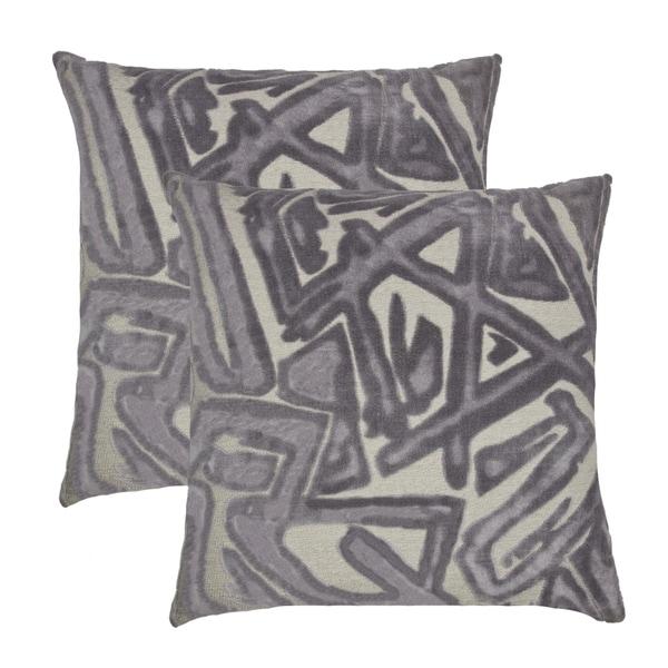 Olivia Quido Hope Luxury Cut Velvet 22-inch Pillow 2-pack