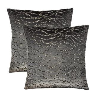 Olivia Quido Bliss Luxury Cut Velvet 20-inch Pillow 2-pack