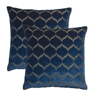 Olivia Quido Dazzle Luxury Cut Velvet 20-inch Pillow 2-pack