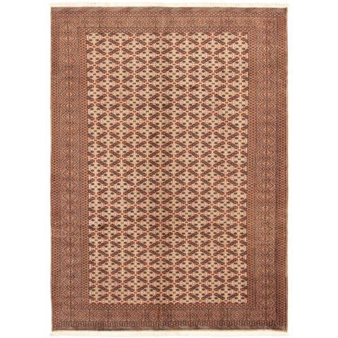 Hand-knotted Shiravan Bokhara Beige Wool Rug