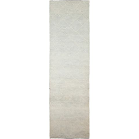 Hand-knotted Tangier Grey Wool Rug