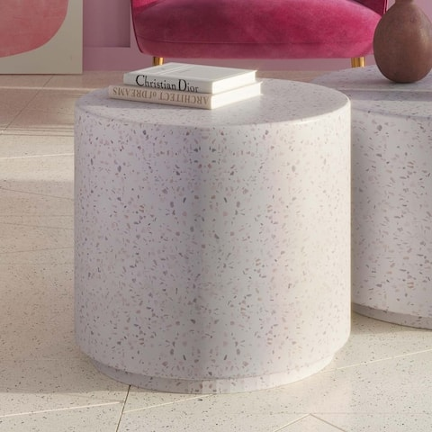 Terrazzo Light Speckled Side Table