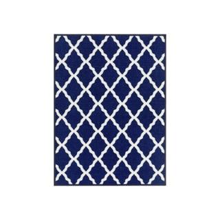 Ottomanson Glamour Trellis Non-Slip Rubber Backing Area Rug