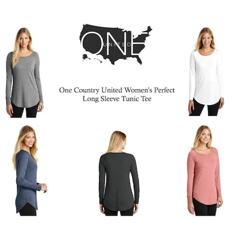 One Country United Women's Perfect Long Sleeve Tunic Tee