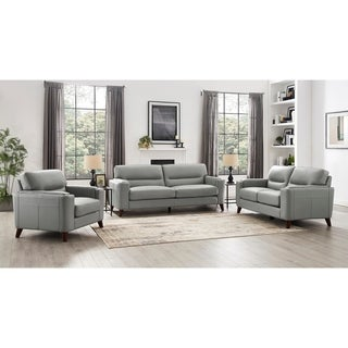 Malkin Genuine Leather Sofa/Loveseat/Chair Set