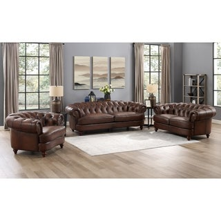 Holtby Genuine Leather Sofa/Loveseat/Chair Set