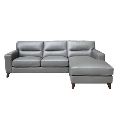 Elldallin Genuine Leather Sectional Sofa