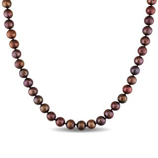 Catherine Catherine Malandrino Brown 8-9mm Cultured Freshwater Pearl Necklace (18-24 inch)