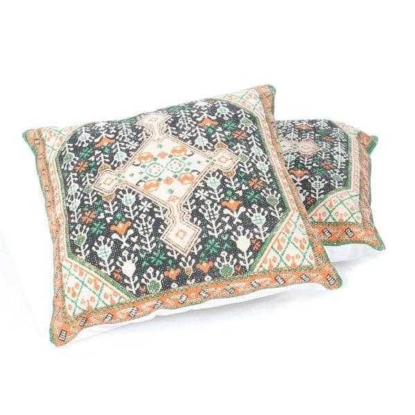 "Handmade 18"" Throw Pillow, Set of 2 (India)"