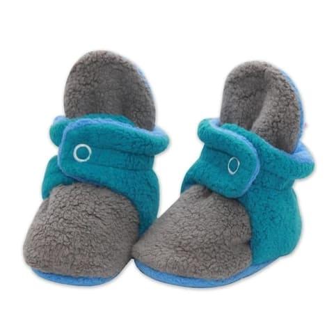 Zutano Tri-Color Cozie Fleece Baby Booties 3M 6M 9M 12M 18M