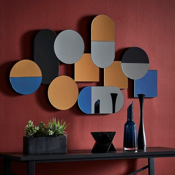 Konnica Multiple Shape and Color Decorative Wall Mirror by iNSPIRE Q Bold