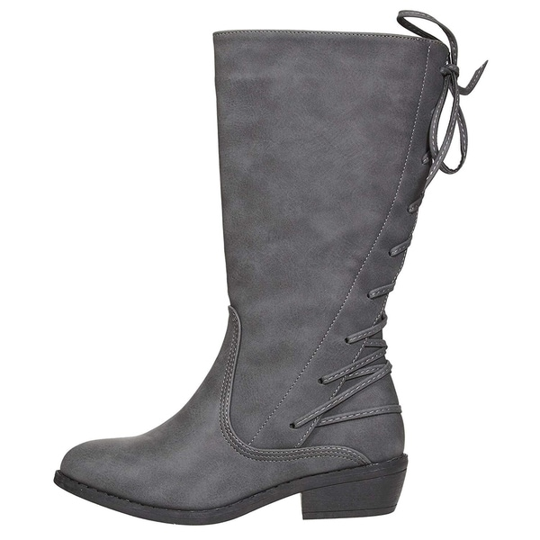 bebe Girls Riding Boots with Lace up