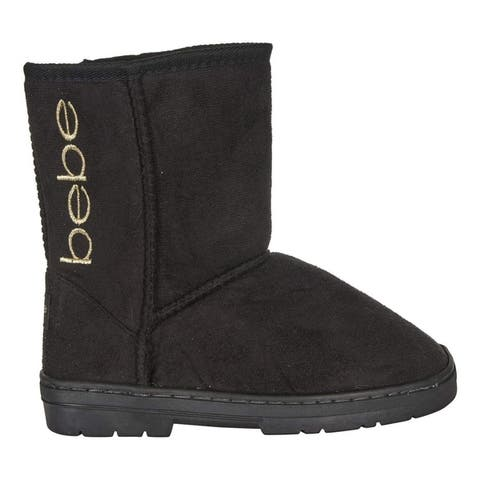 bebe Toddler Girls Winter Boots Slip-On Mid-Calf Microsuede Shoes