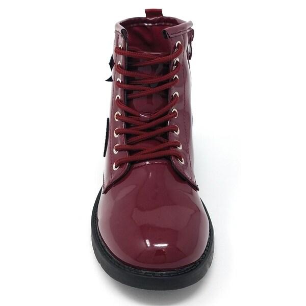 Shop bebe Girls Patent Combat Boots