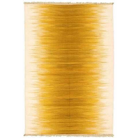 Flat-weave Ankara Gold Wool Kilim