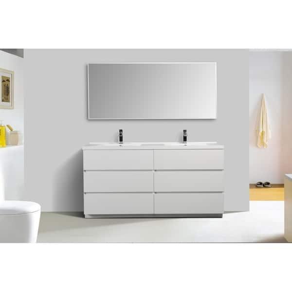 Alma Edison 67 Inch Freestanding Double Sink Vanity Overstock 30336549