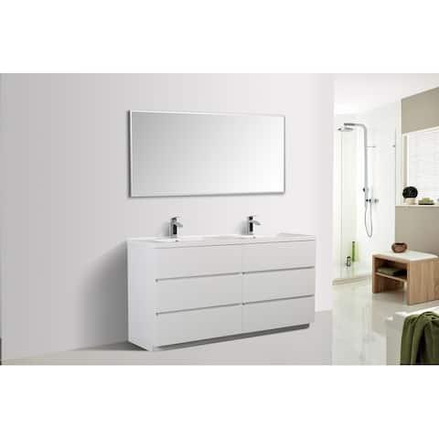Alma-Edison 67-inch Freestanding Double Sink Vanity