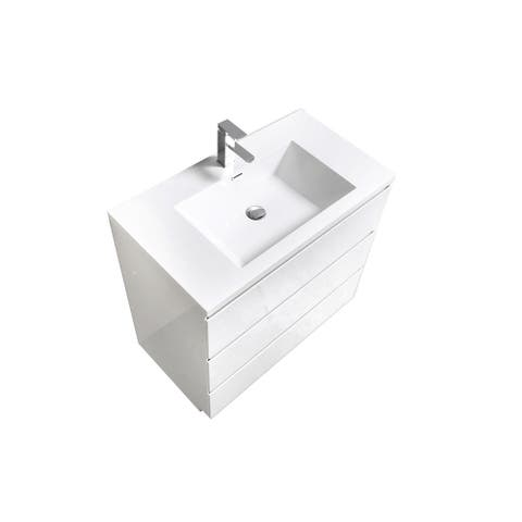Alma-Edison 36 inch Free Standing Vanity With Integrated Sink