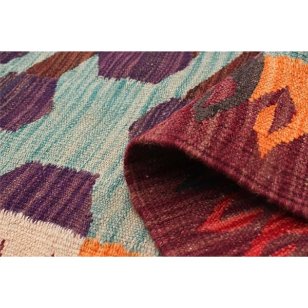 Shop Flat Weave Old Style Multi Color Wool Rug 5 9 X 8 10 Free
