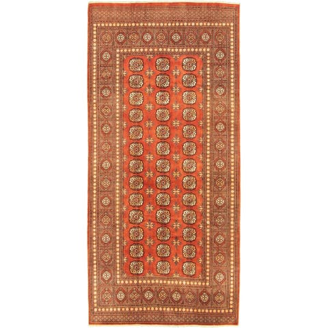 """Hand-knotted Peshawar Bokhara Copper Wool Rug - 6'0"""" x 8'11"""""""