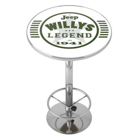 Jeep Willys Legend Chrome Pub Table
