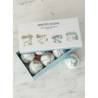 Link to Winter Scene Ornaments - Set of 8 Similar Items in Christmas Decorations