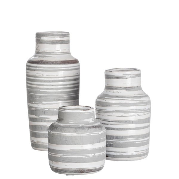 Striped Bottle Vase - Set of 3