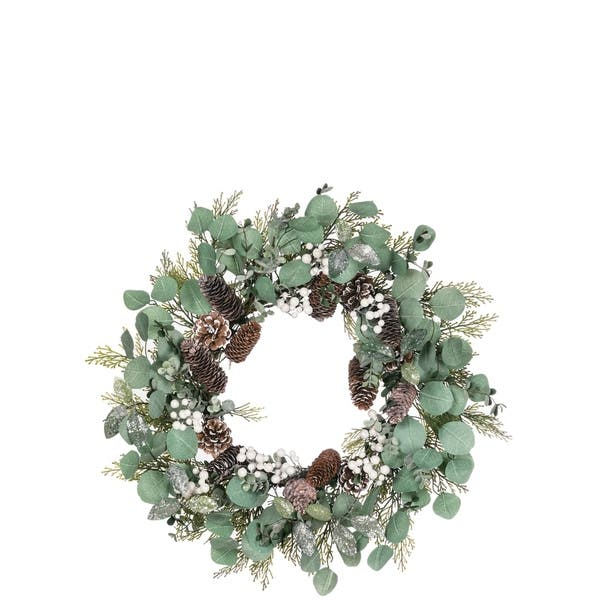 Berry And Foliage Wreath 24 L X 6 W X 24 H On Sale Overstock 30337124