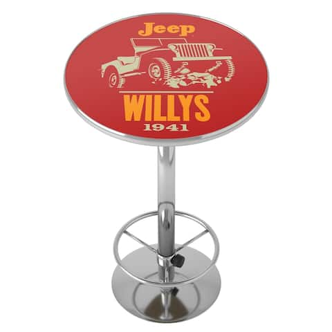 Jeep Willys Chrome Pub Table