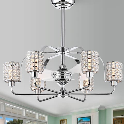 Silver Orchid Padin Pull-chain Ceiling Fan