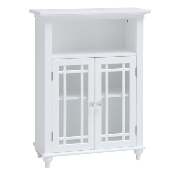 Andis Floor Cabinet with Two Doors and Adjustable Shelves.