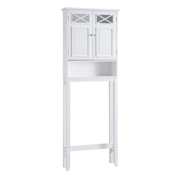 Salem Space Saver Bathroom Cabinet with Two Doors and Open Shelf