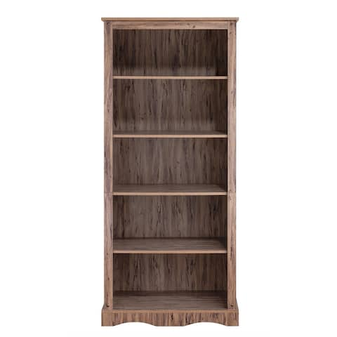 """Simplicity Bookcase with 5 Shelves - 32"""" x 17"""" x 71.63"""""""